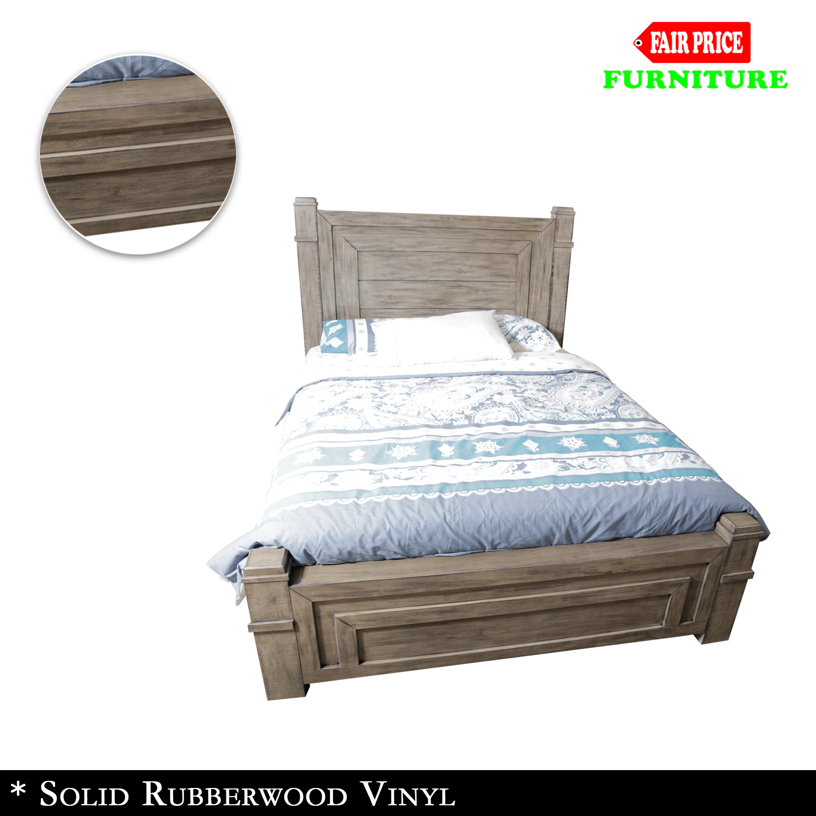 New luxury high quality dokota queen bed frame in antique for High bed frame queen