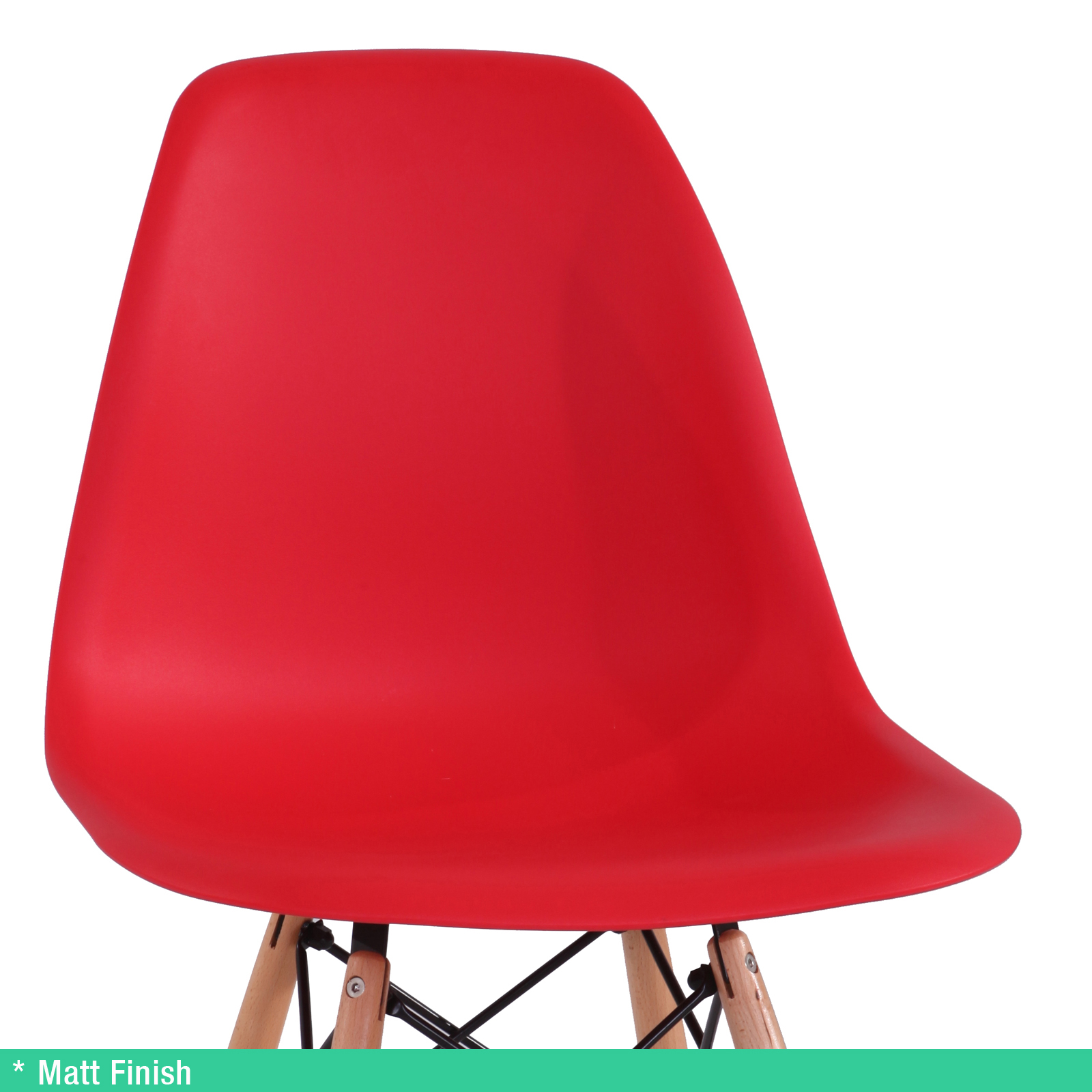 4 x Retro Replica Eames Chick DSW Dining Chairs Office  : Eames Chick Red 02 from www.ebay.com.au size 1600 x 1600 jpeg 657kB