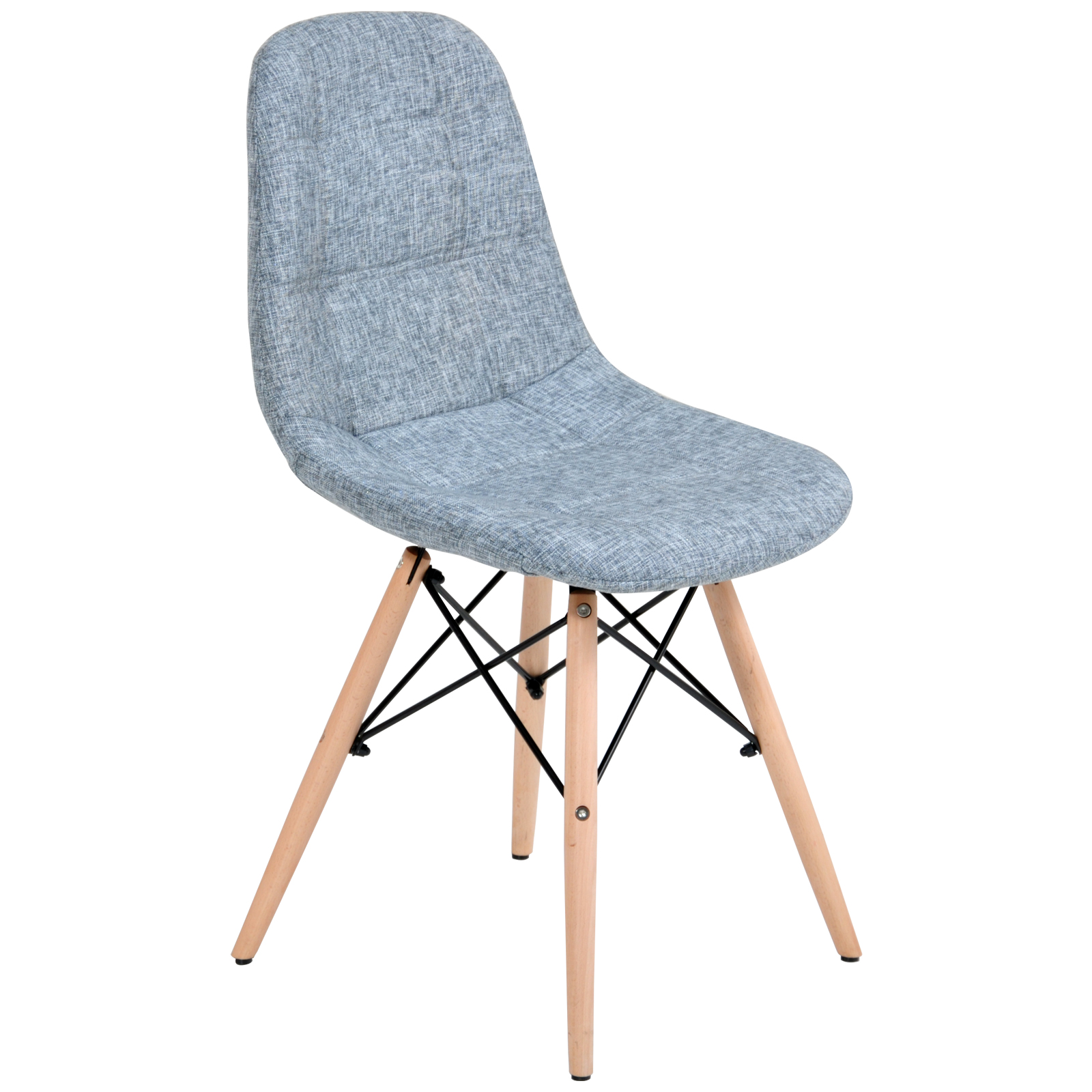 City S Dining Table 4 X Replica Eames Ellen Linen Fabric Dining Chair Grey