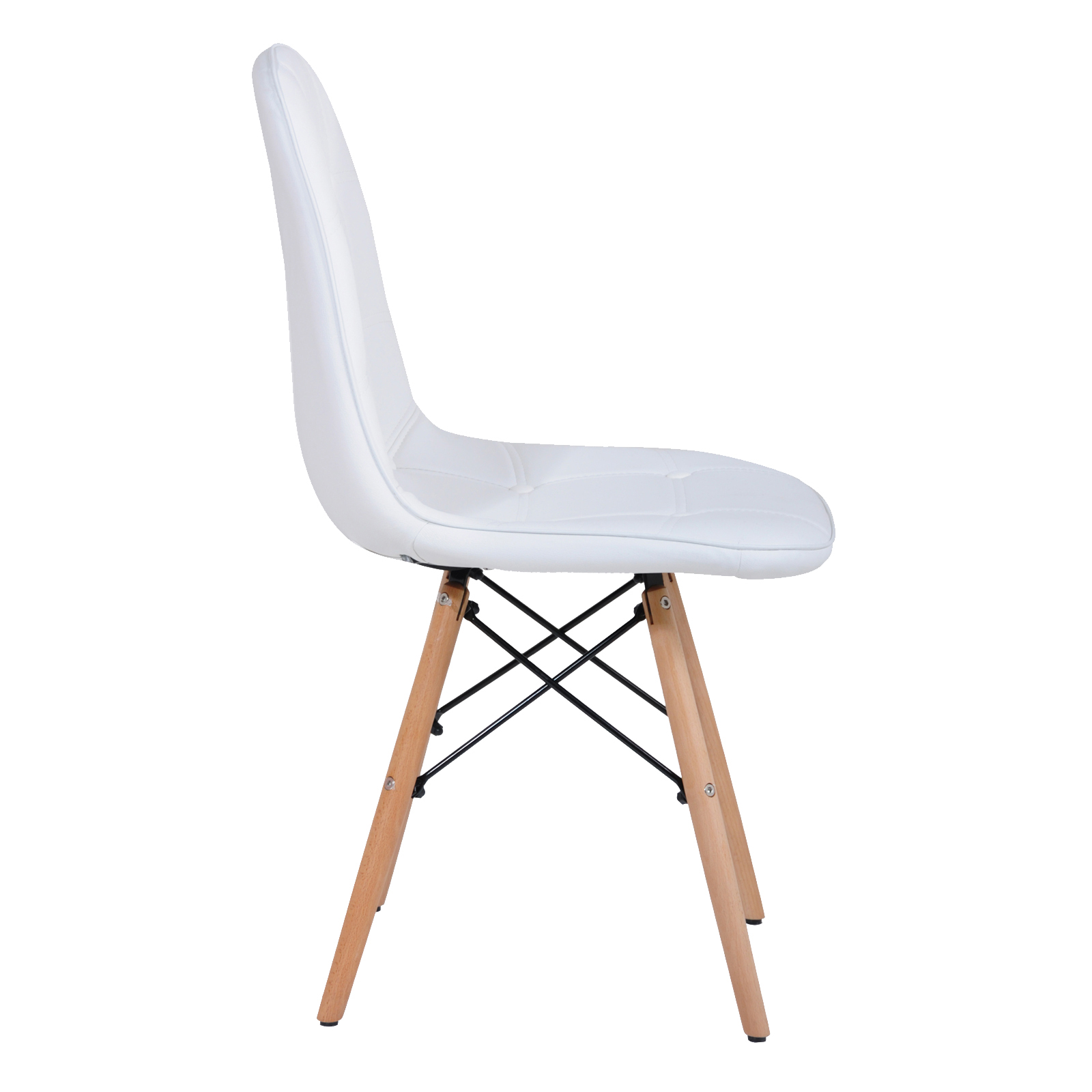 4 X Replica Eames Ellen PU Leather Dining Chair White Color EBay