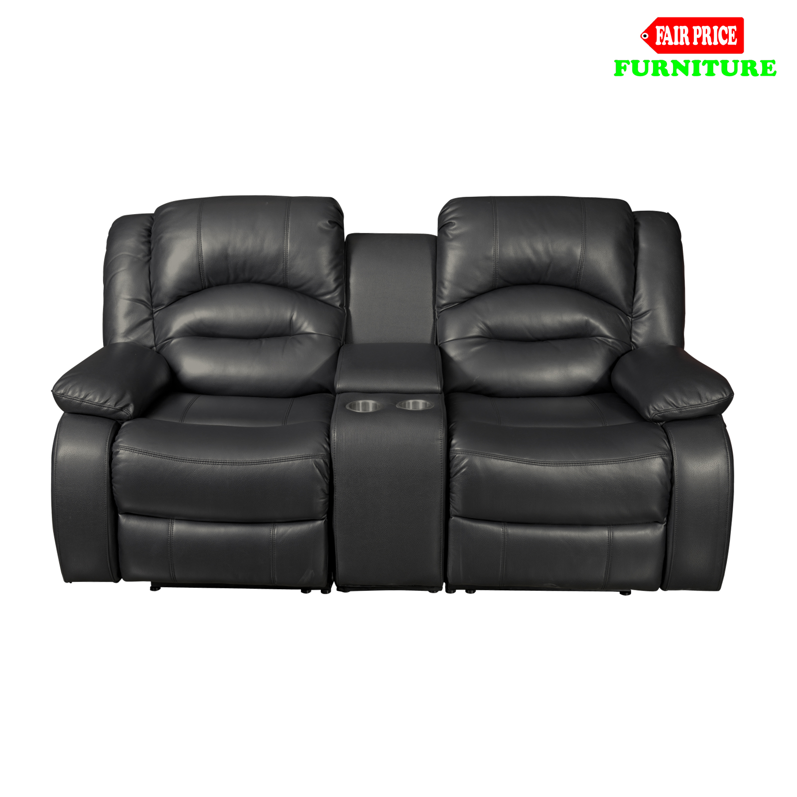 Luxury Hollywood Black Leather Air 3 2 5 Seater Home