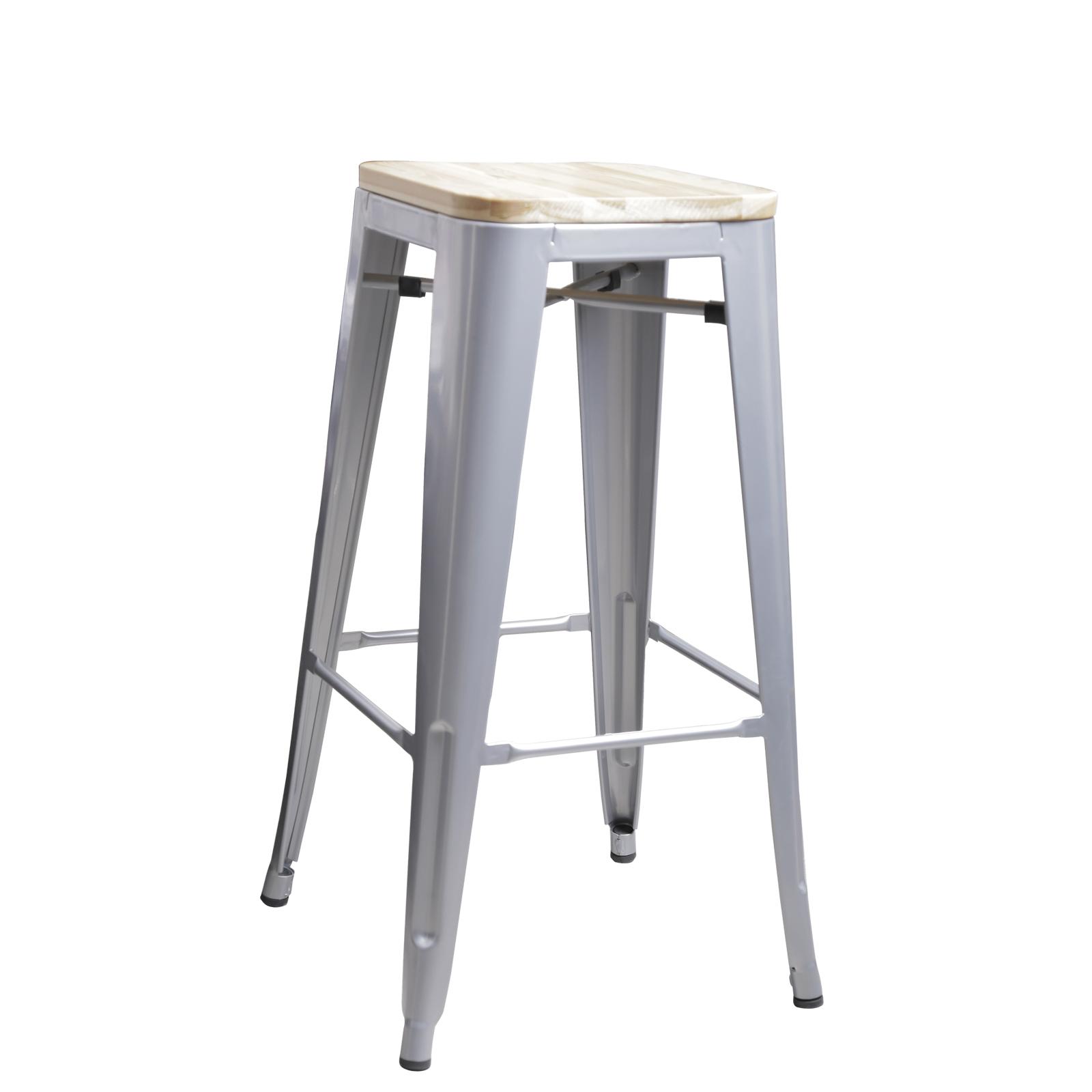 4 x replica new tolix bar stool xavier metal steel with - Tolix bar stool replica ...