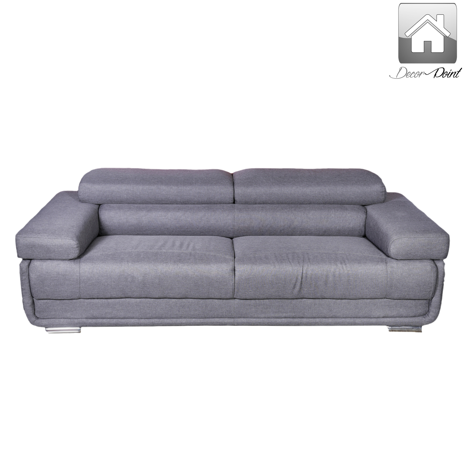 New Luxury Grey Brighton 3 Seater Fabric Sofa With Gas