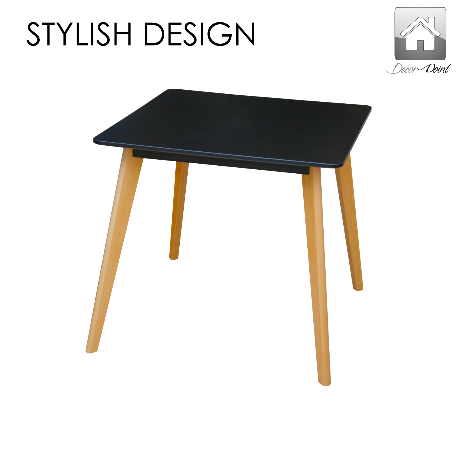 City Small Dining Table 4 x Replica Eames Sisly ABS  : City Small Table Blk 03 from www.ebay.com.au size 1600 x 1600 jpeg 336kB