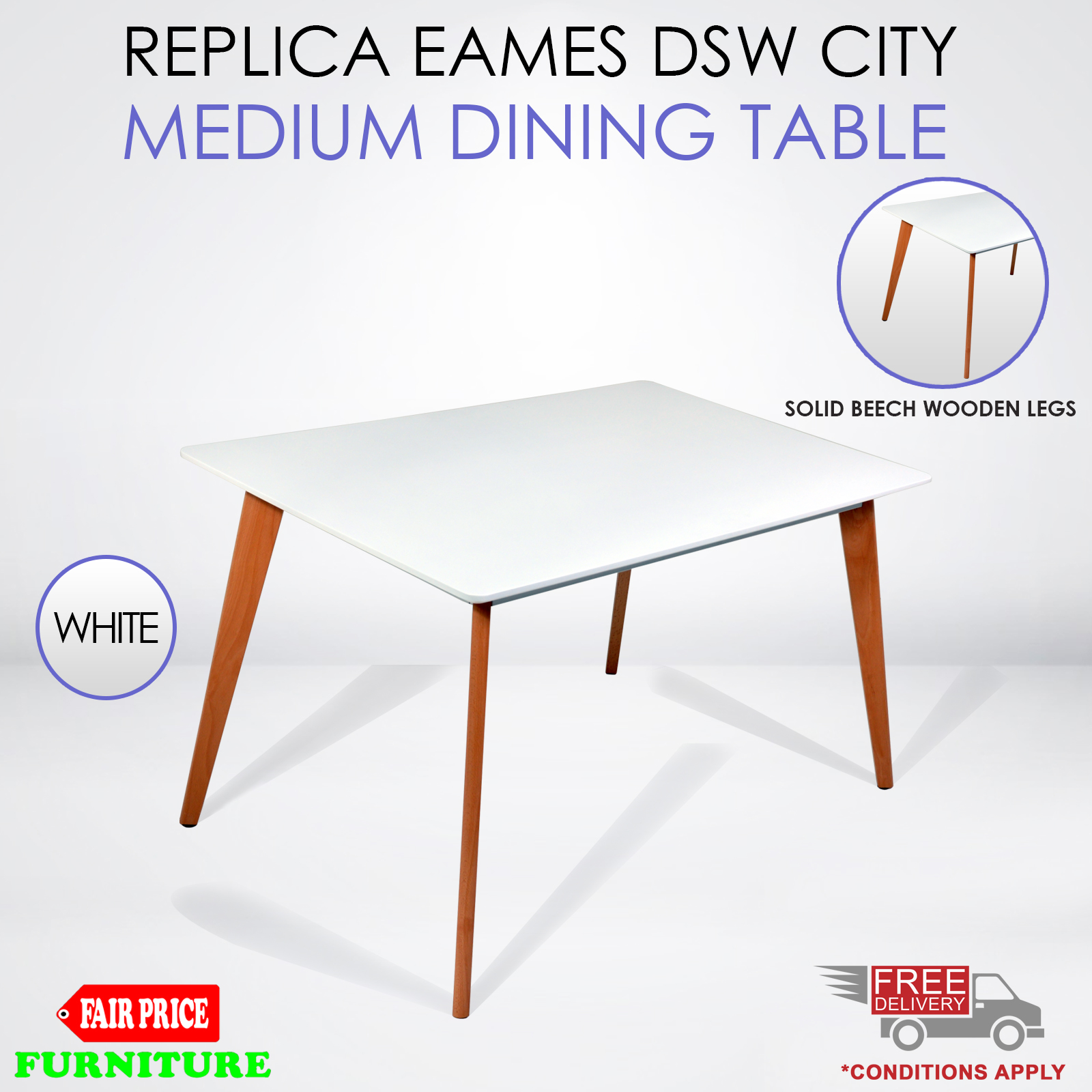 Replica Eames DSW City Dining Table White Designer Kitchen  : City medium Table Main from www.ebay.com.au size 1600 x 1600 jpeg 701kB