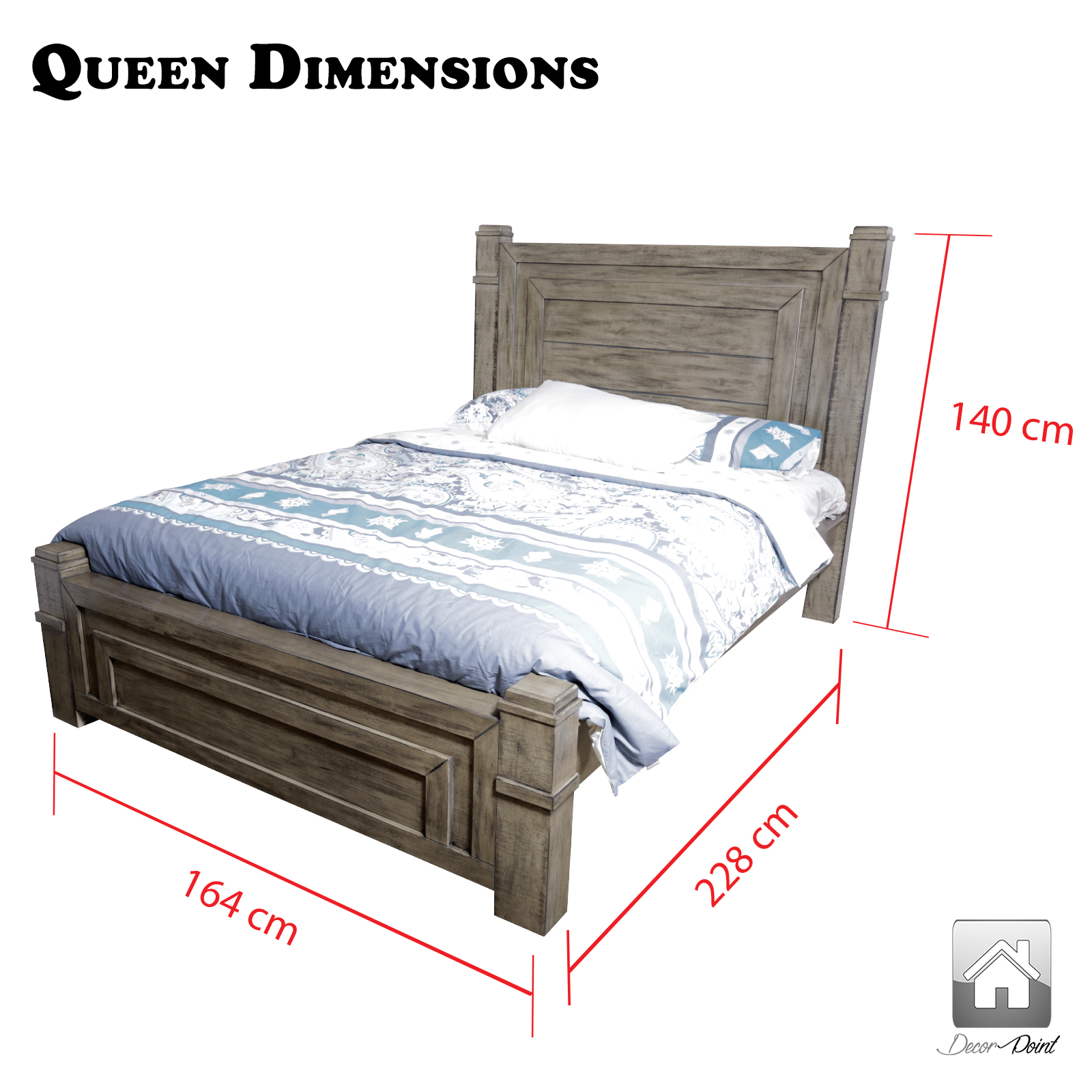 new luxury high quality dokota queen bed frame in antique color with solid slats ebay. Black Bedroom Furniture Sets. Home Design Ideas