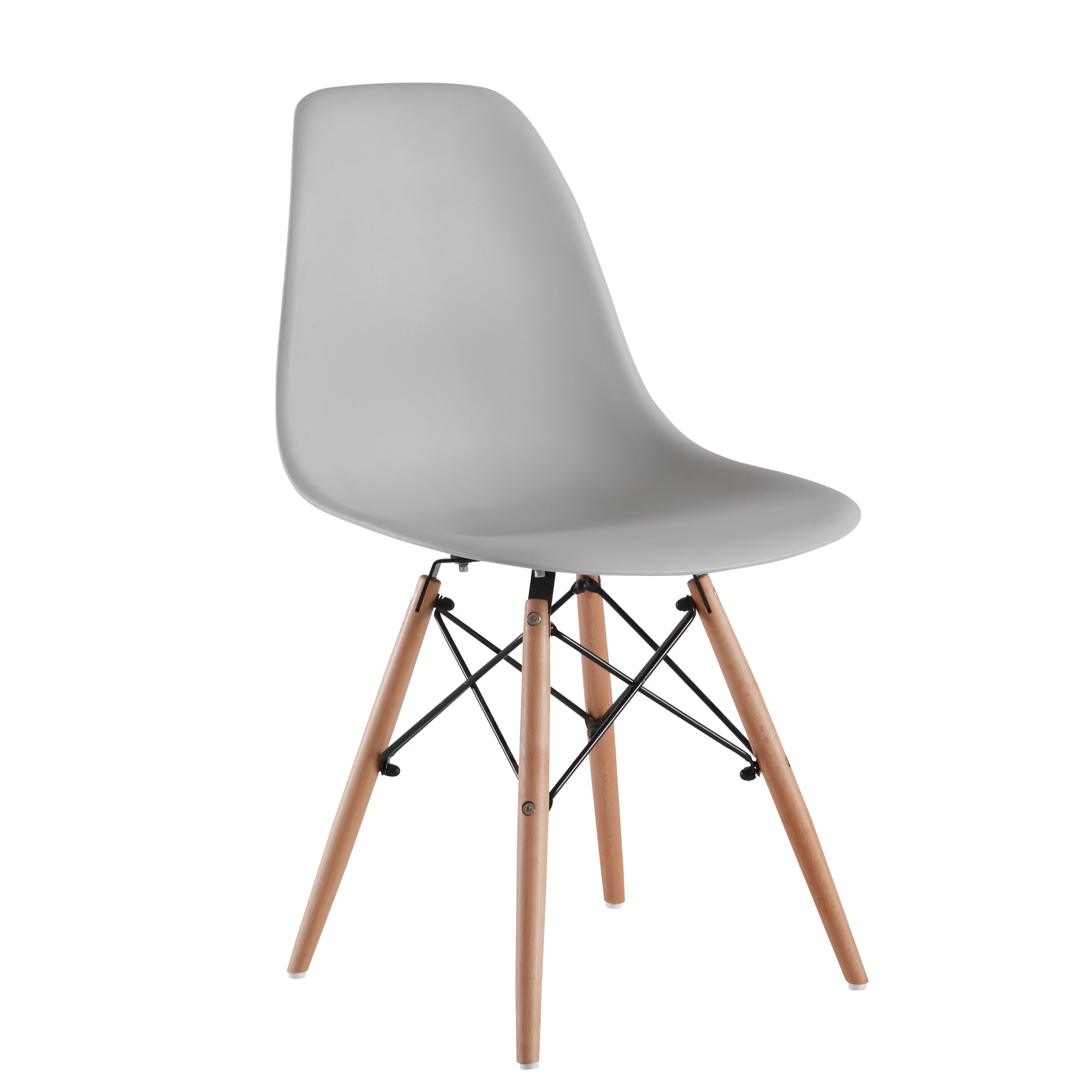 4 x Retro Replica Eames Chick DSW Dining Chairs Office  : Eames Chick Grey 01 from www.ebay.com.au size 1600 x 1600 jpeg 344kB