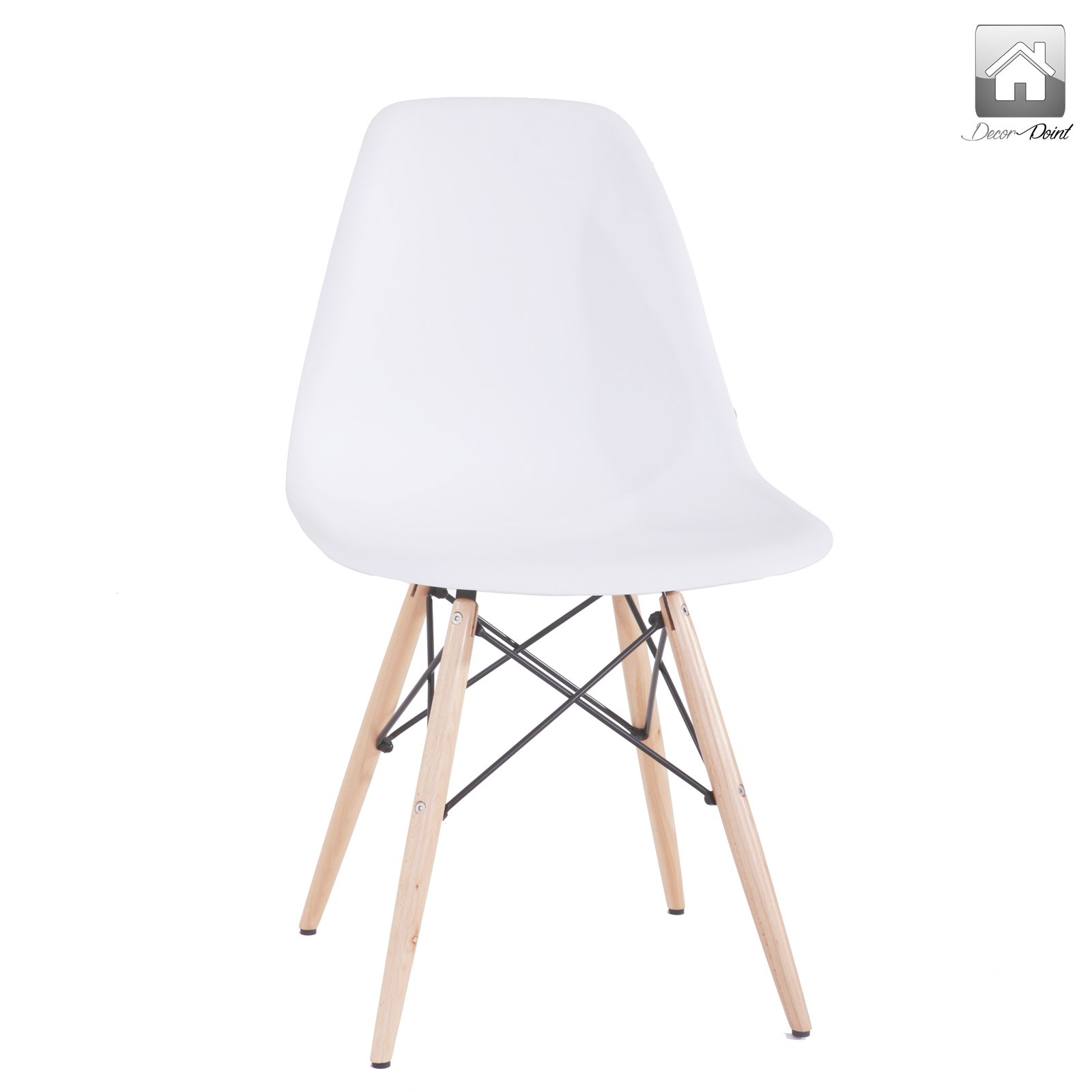 8 x Retro Replica Eames Chick DSW Dining Chairs Office  : Eames Chick White 07 from www.ebay.com.au size 1600 x 1600 jpeg 255kB