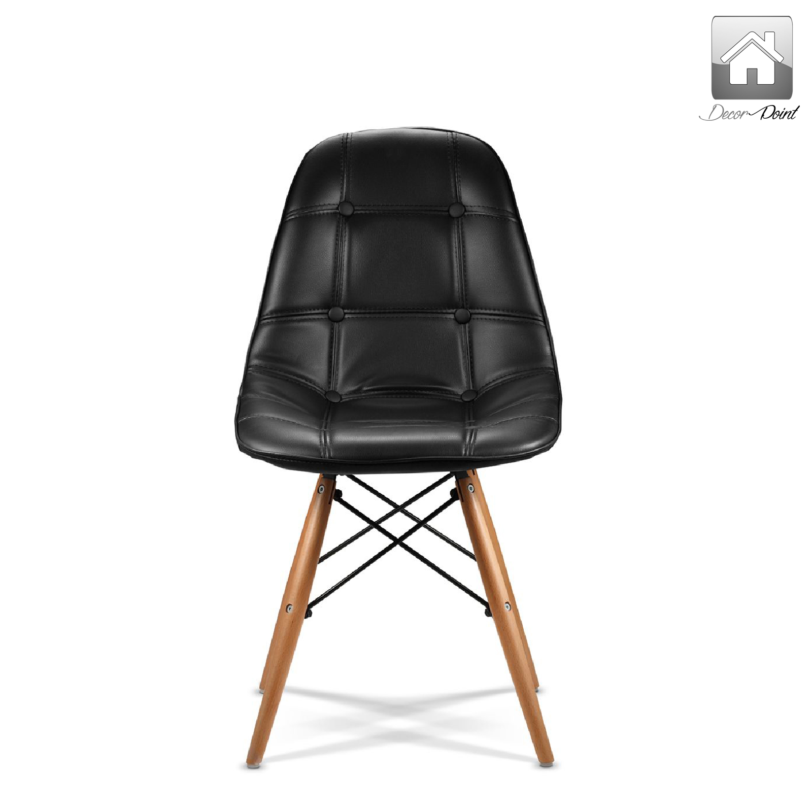 eames ellen pu leather dining chair black color features replica eames