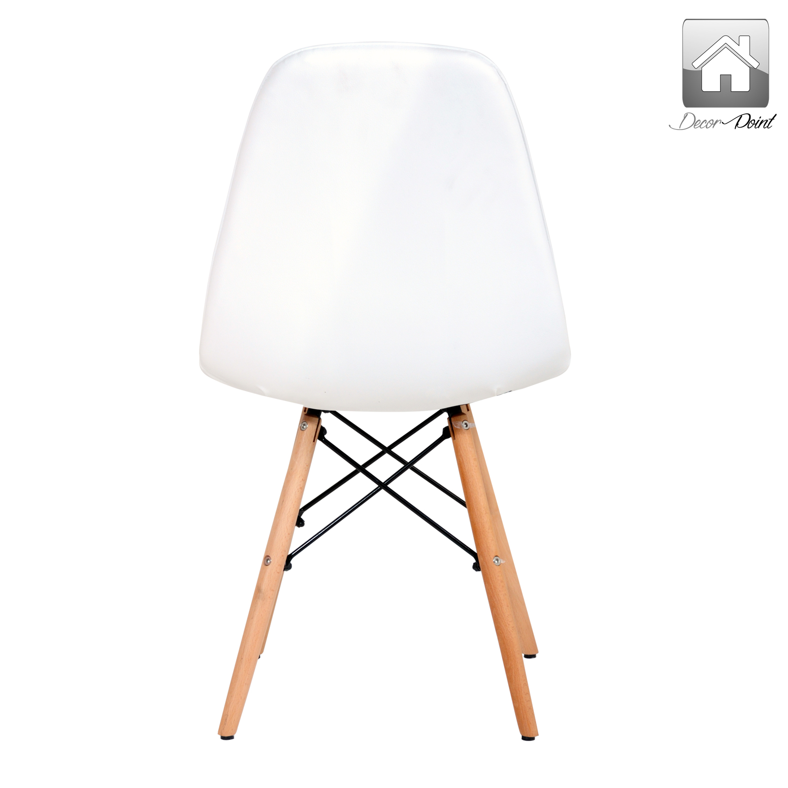 eames ellen pu leather dining chair white color features replica eames