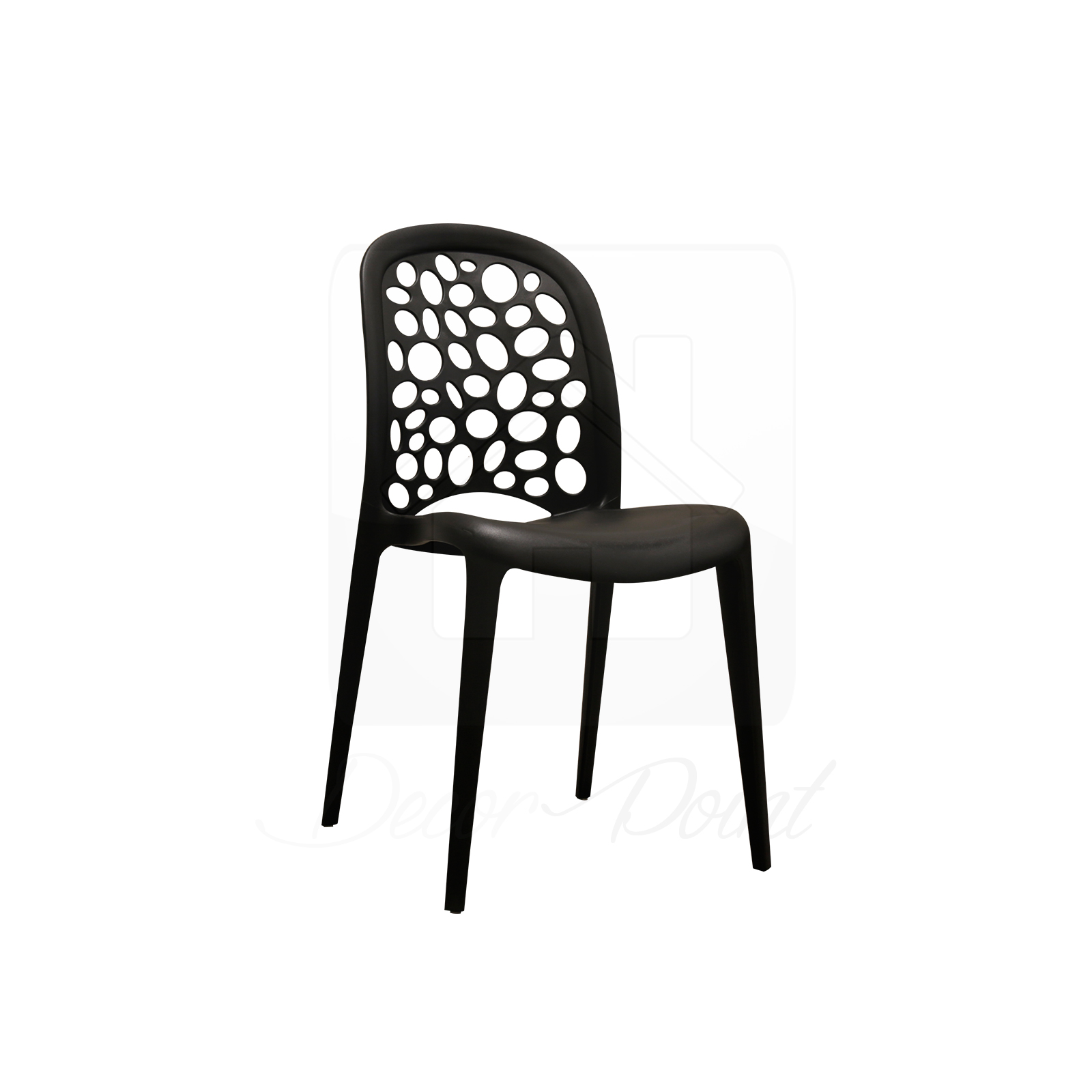 8 x new best quality black midas plastic dining chairs for for Black plastic dining chairs