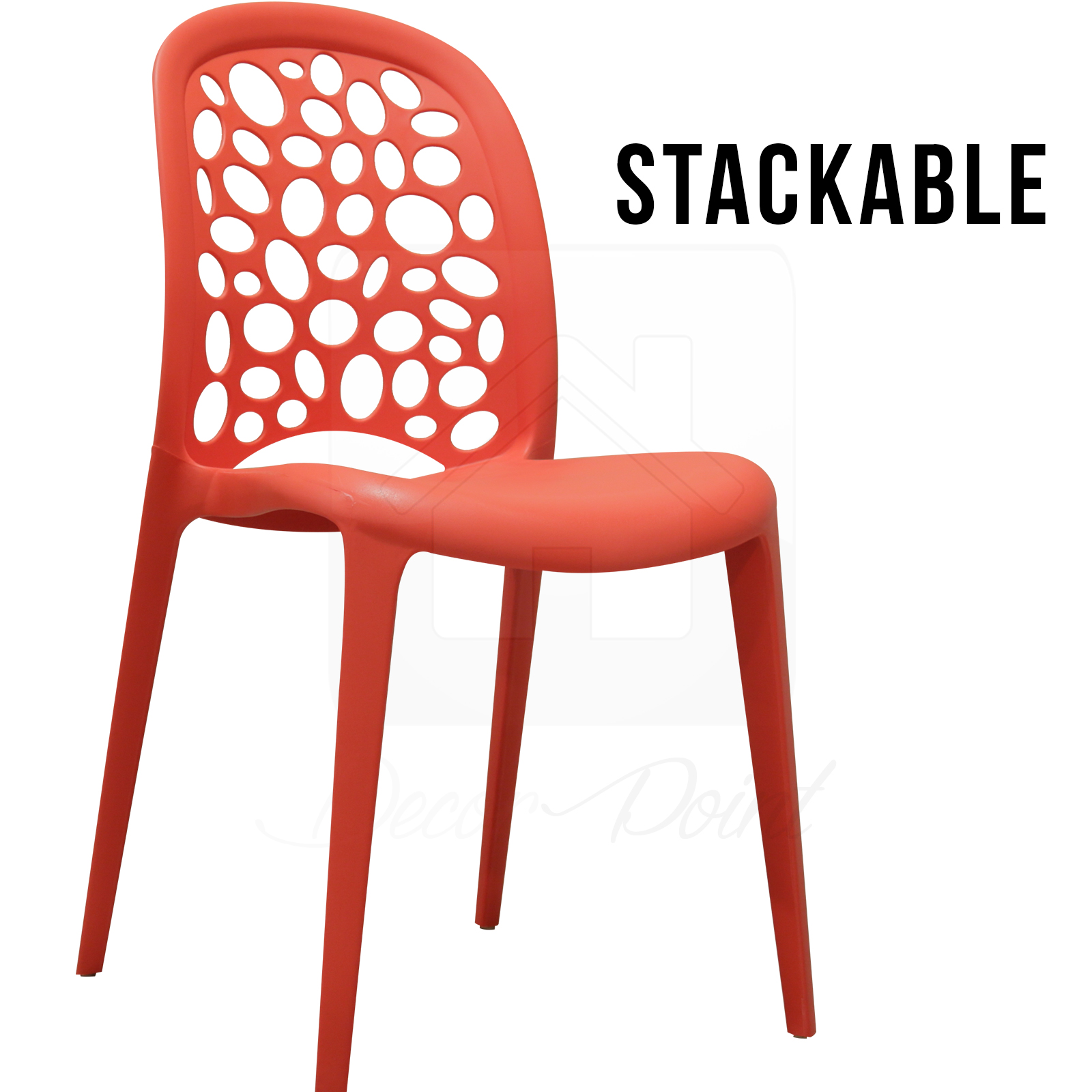 12 X New Best Quality Red Midas Plastic Dining Chairs For Kitchen Cafe Outdoor Ebay