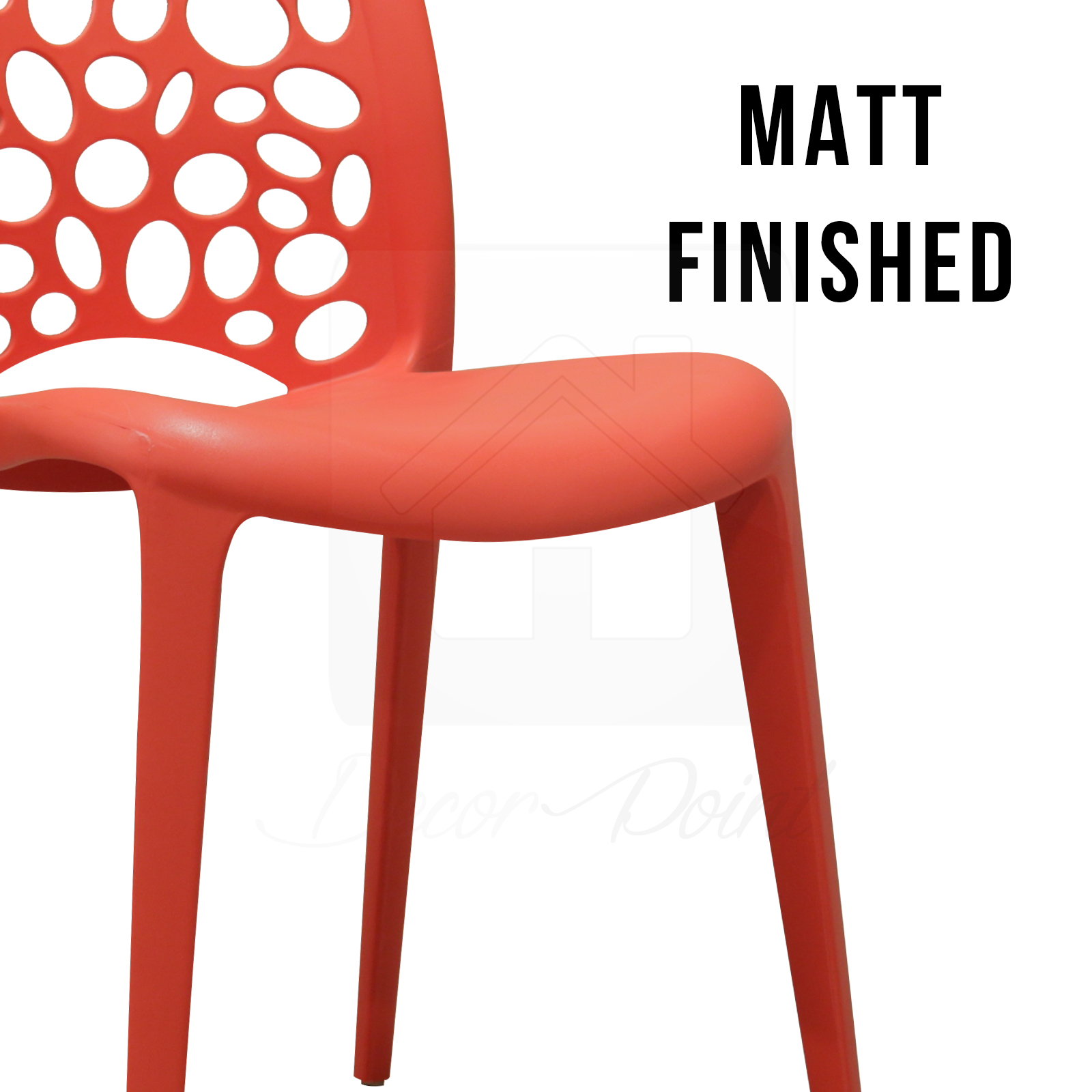 8 X New Best Quality Red Midas Plastic Dining Chairs For Kitchen Cafe Outdoor Ebay