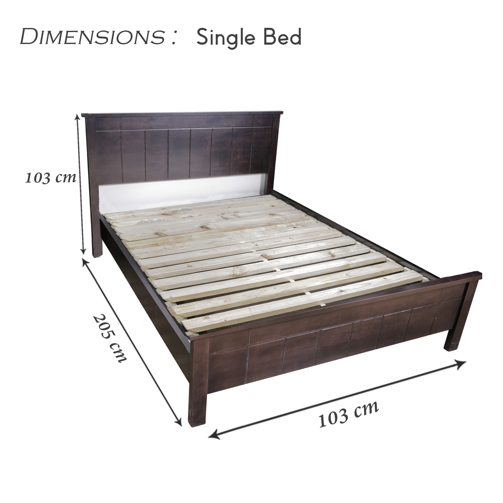 New best quality wenge colour phobe single bed frame with for Good quality single beds