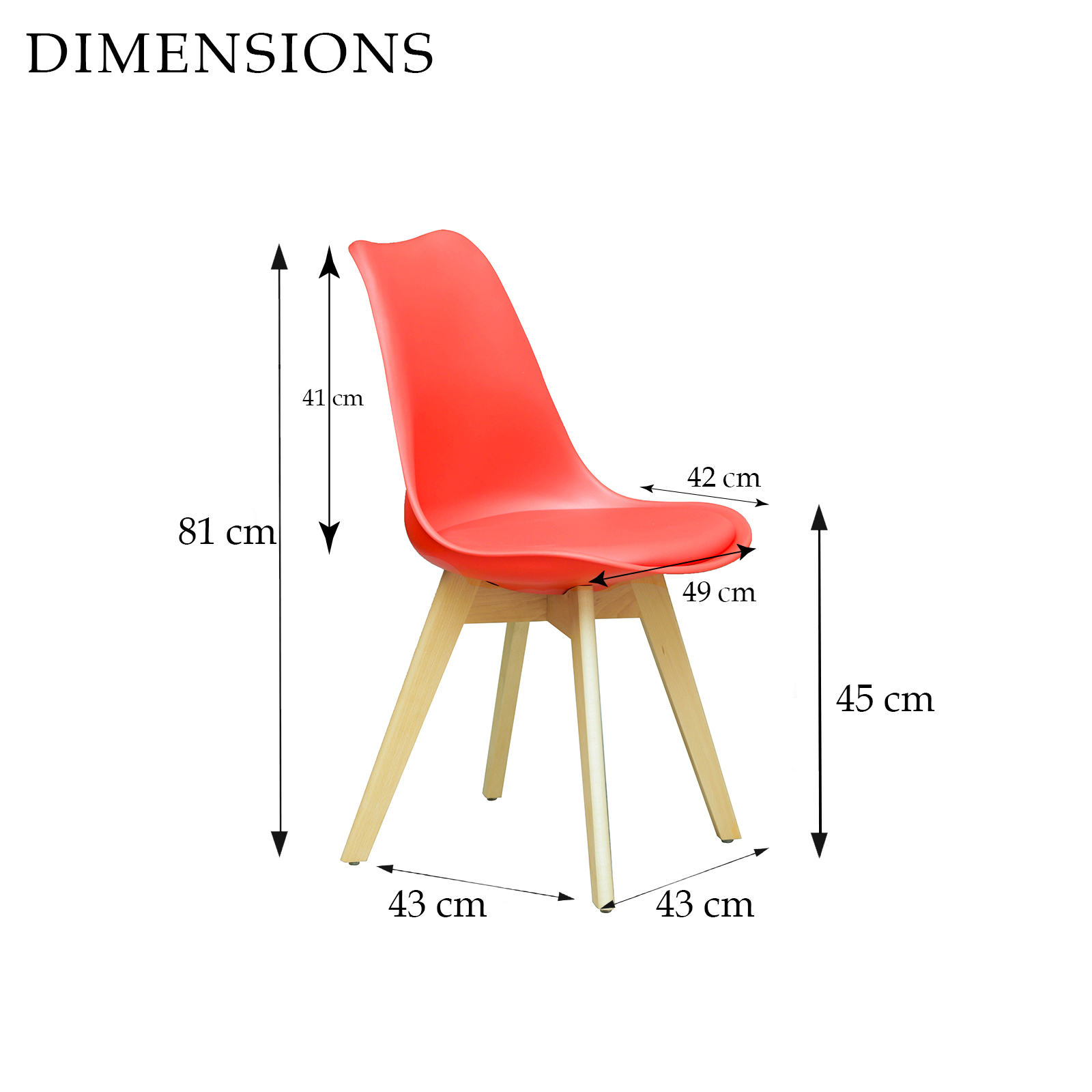 City Medium Dining Table 4 x Replica Eames Sisly ABS  : Sisly Red dining Chair Dimensions from www.ebay.com.au size 1600 x 1600 jpeg 310kB