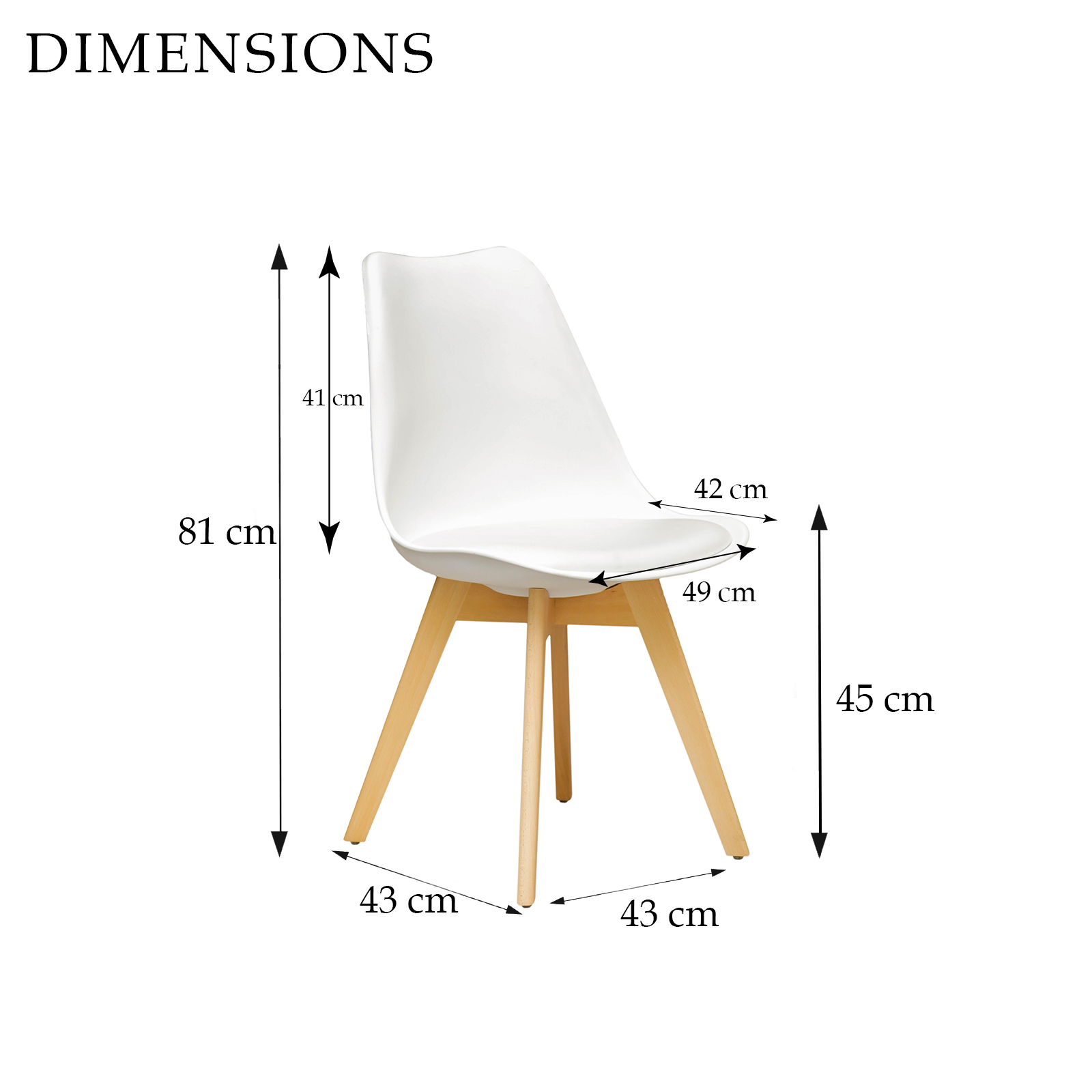 City Small Dining Table 4 x Replica Eames Sisly ABS  : Sisly White dining Chair Dimensions from www.ebay.com.au size 1600 x 1600 jpeg 233kB