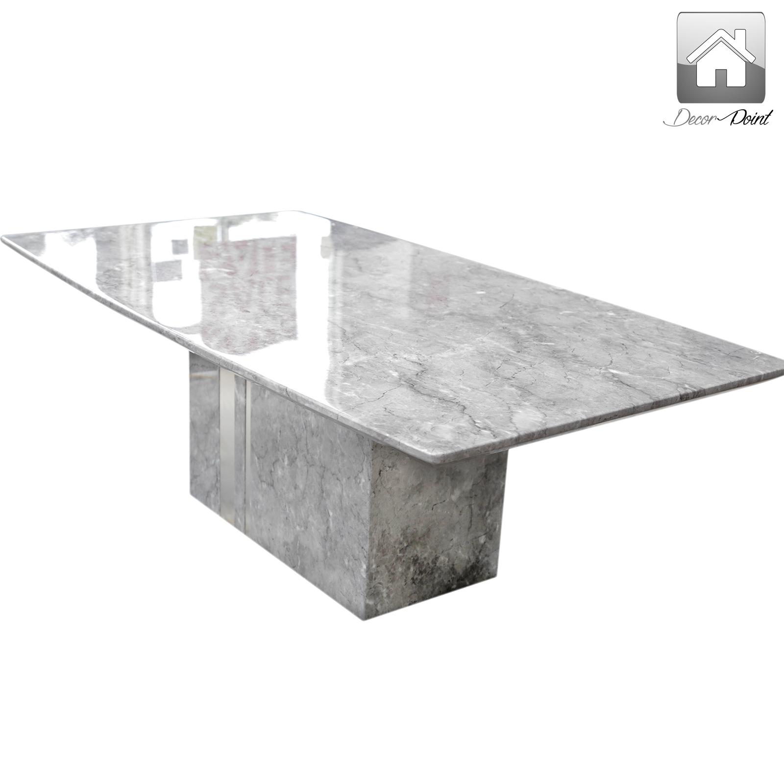 Oracle Grey Marble Coffee Table: New Luxurious Grey Shaded High Gloss Marble Veneer Coffee