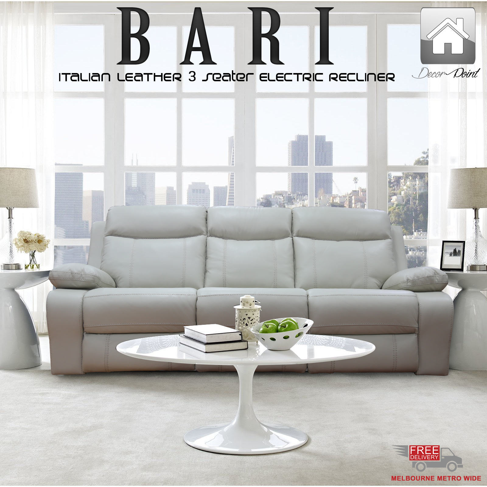 Ultra Modern Kitchen Designs You Must See Utterly Luxury: New Luxury 3 Seater Italian Leather Bari Electric Recliner