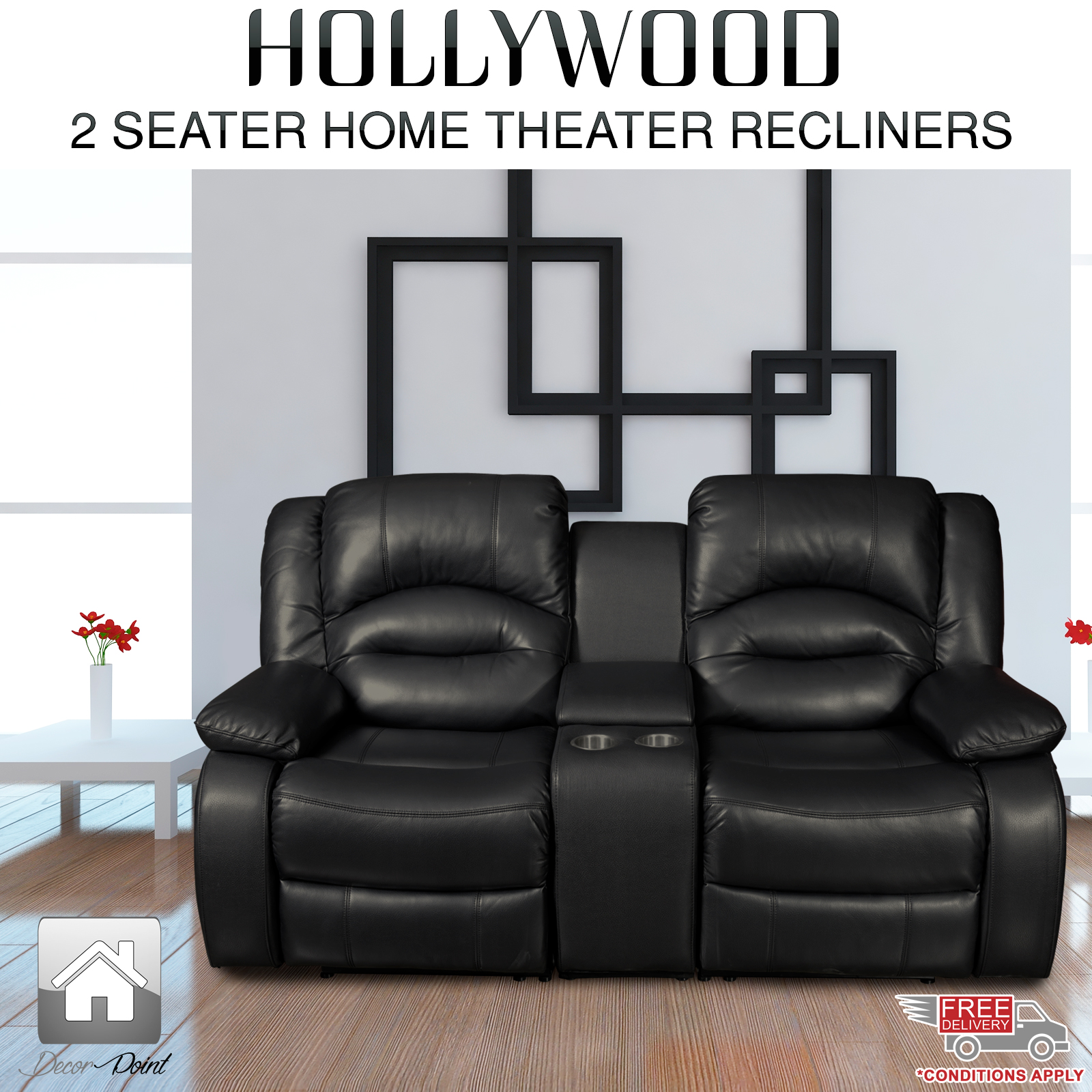 Overview. The best HOLLYWOOD HOME THEATER RECLINER ... & New Luxury Hollywood Black Leather Air 2 Seater Home Theater ... islam-shia.org