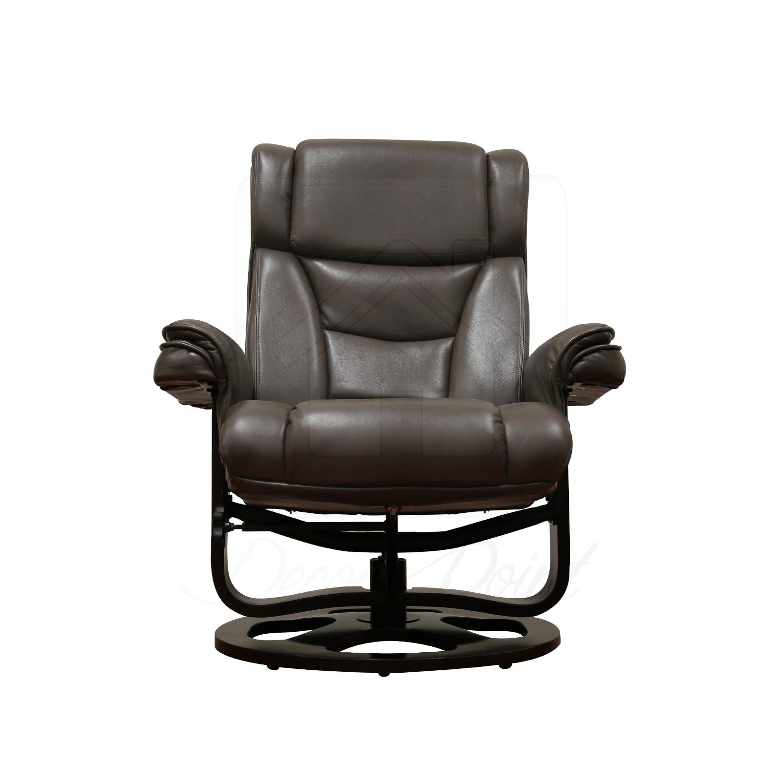 Monash Leather Air Camel 360 Degree Swivel Living Room Recliner Chair Ottoman Ebay