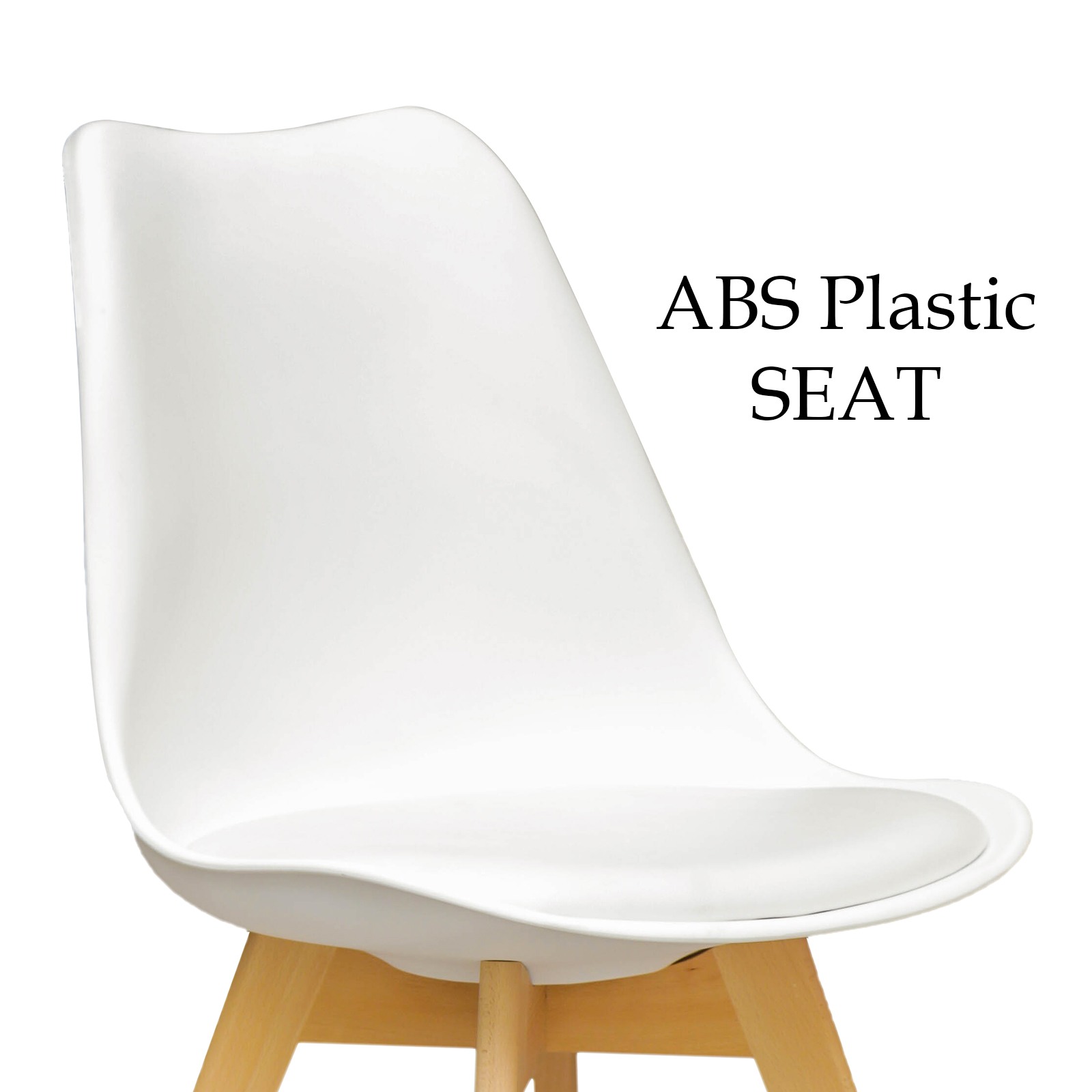4 X Retro Replica Eames Sisly ABS Plastic CafeDining  : Sisly White dining Chair 03 from www.ebay.com.au size 1600 x 1600 jpeg 328kB