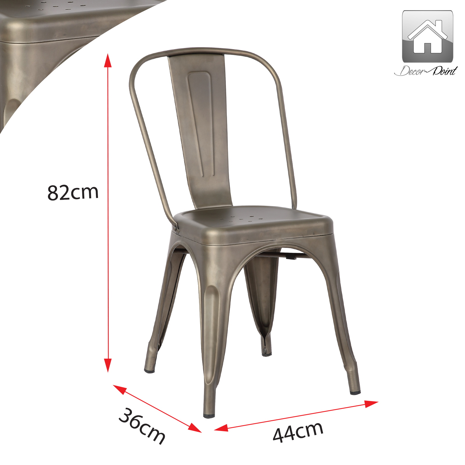 Home Design Stores Adelaide 8 X Replica New Tolix Dining Chair Xavier Metal Steel Home